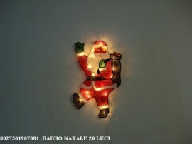 BABBO NATALE 20 LUCI