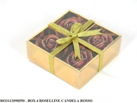 BOX 4 ROSELLINE CANDELA ROSSO