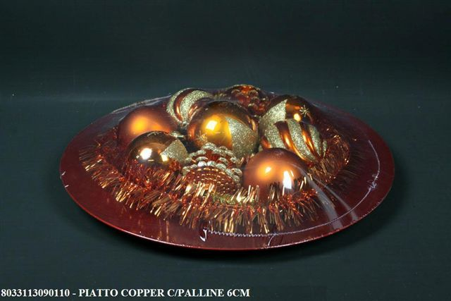 PIATTO COPPER C/PALLINE