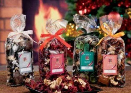 POT POURRI PER DECORAZIONE E PROFUMAZIONE AMBIENTE 4 FRAGRANZE ASSORTITE 100gr.
